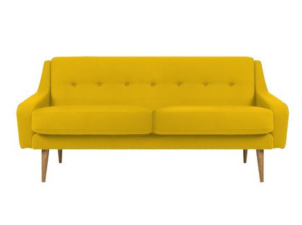 Трехместный диван одри m yellow (vysotkahome) желтый 185x85x85 см.