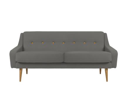 Трехместный диван одри m (vysotkahome) серый 185x85x85 см.