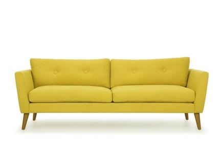 Трехместный диван хадсон l yellow (vysotkahome) желтый 209x79x89 см.