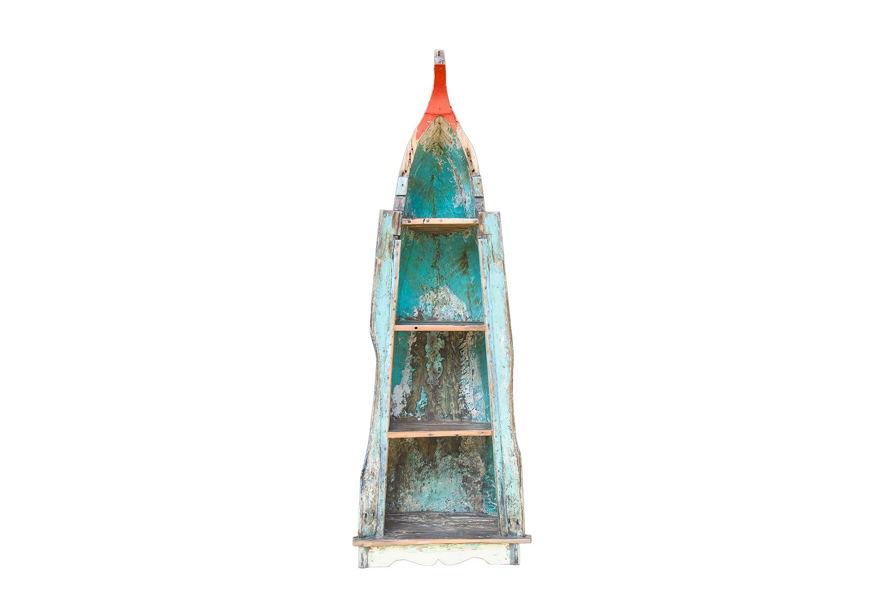 Лодка-стеллаж СоникСтеллажи и этажерки<br>Тем, кто желает наполнить свой дом особенной аурой, поможет стеллаж &amp;quot;Соник&amp;quot;. Выполненный из старой рыбацкой лодки, бороздившей просторы морей в течение пары десятилетий, он привнесет в оформление пространства дух старины. Сквозь многослойное окрашивание, местами потрескавшееся, так и будут сочиться истории увлекательных путешествий и незабываемых приключений... Что мы все о прошлом! От современности в этом оригинальном стеллаже тоже кое-что присутствует ? яркое изображение героя популярных видеоигр, &amp;quot;Соника&amp;quot; добавляет контрастность этническому дизайну.&amp;lt;div&amp;gt;&amp;lt;br&amp;gt;&amp;lt;/div&amp;gt;&amp;lt;div&amp;gt;Имеет 4 полки разной вместимости.&amp;lt;/div&amp;gt;&amp;lt;div&amp;gt;Подходит для использования как внутри помещения, так и снаружи.&amp;lt;/div&amp;gt;&amp;lt;div&amp;gt;Сборка не требуется.&amp;lt;/div&amp;gt;&amp;lt;div&amp;gt;Покрытие: шеллак.&amp;lt;/div&amp;gt;&amp;lt;div&amp;gt;Материал: массив тика (махогони, суара).&amp;lt;/div&amp;gt;<br><br>Material: Тик<br>Ширина см: 84<br>Высота см: 234<br>Глубина см: 83