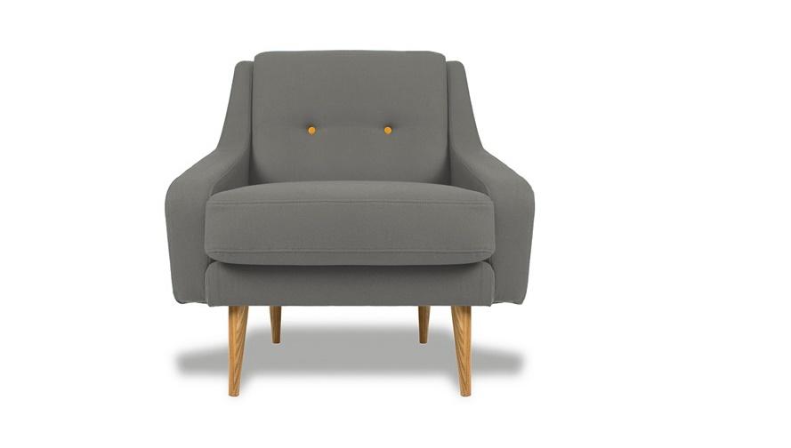 Кресло Одри SILVERИнтерьерные кресла<br>&amp;lt;div&amp;gt;&amp;lt;div&amp;gt;Это кресло в стиле ретро напоминает мебель 60-х. Оно также имеет плавные сглаженные линии, тоже изготовлено из натуральных материалов. Широкое сиденье удобно, равно как и высокие подлокотники. В качестве наполнителя для подушки используется полиуретан. Стройные ножки выточены из цельной древесины, а обивка изготовлена из прочной ткани приятного серого оттенка.&amp;lt;/div&amp;gt;&amp;lt;/div&amp;gt;<br><br>Material: Текстиль<br>Ширина см: 85<br>Высота см: 85<br>Глубина см: 85