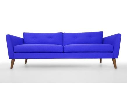 Трехместный диван хадсон l blue (vysotkahome) синий 209x79x89 см.