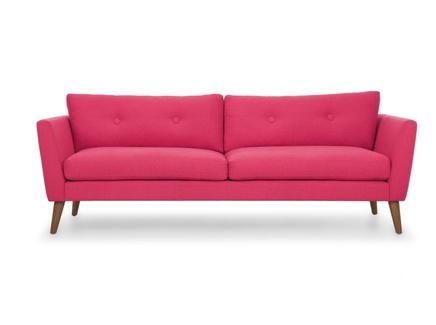 Трехместный диван хадсон l pink (vysotkahome) розовый 209x79x89 см.