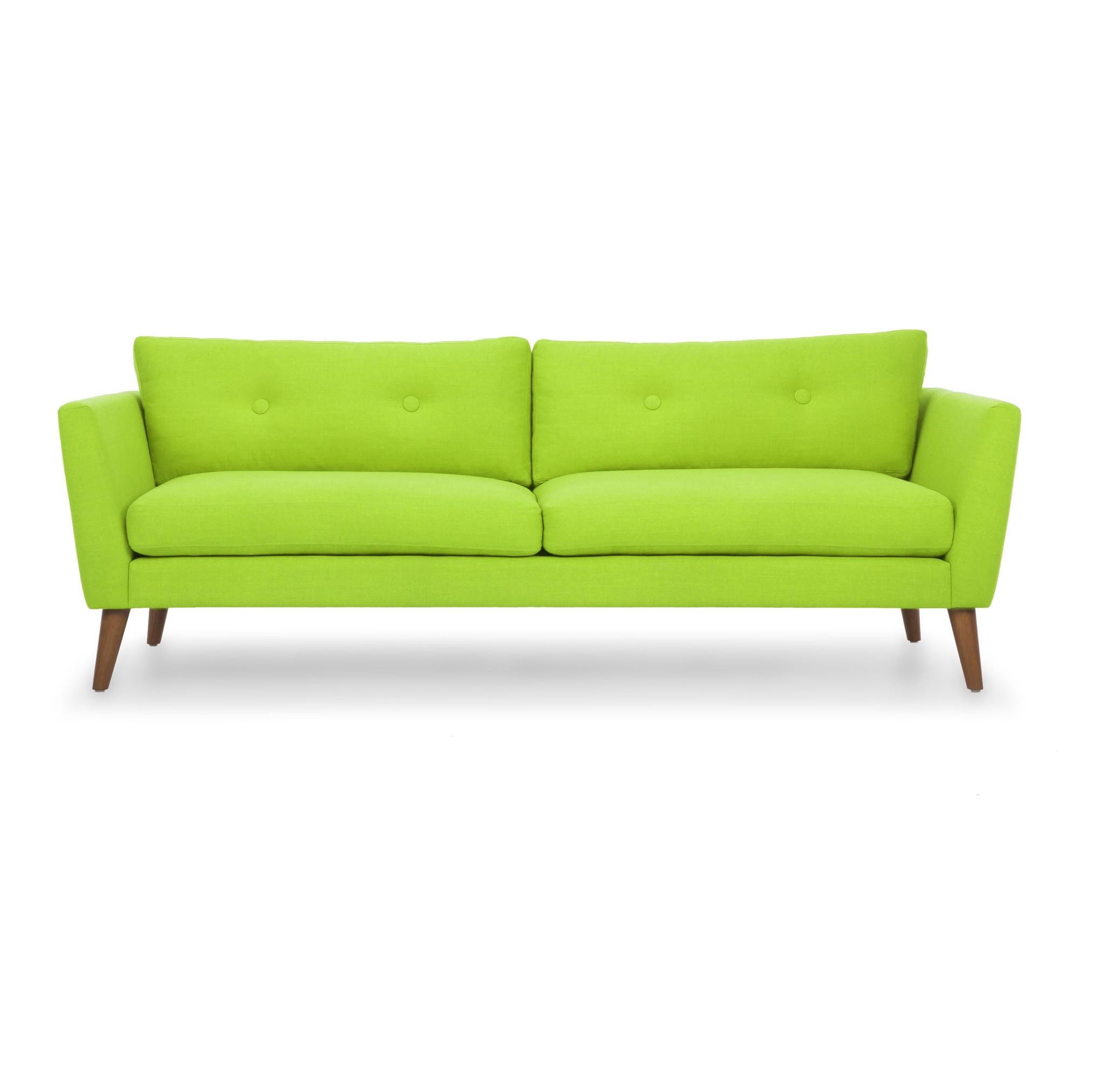 Трехместный диван Хадсон L GREENТрехместные диваны<br>&amp;lt;div&amp;gt;Этот диван ? ценная находка для любителей стиля эко и природных расцветок. Оттенок свежего салата латука ? что может быть нежнее? Ярко, но естественно. Такая мебель мгновенно приковывает взгляд. Подушки украшены скромной точечной стяжкой, имеют съемные чехлы. Мягкое наполнение ? из полиуретана. Ножки изготовлены из массива дуба. Обивочная ткань приятна на ощупь, легко чистится.&amp;lt;/div&amp;gt;<br><br>Material: Текстиль<br>Width см: 209<br>Depth см: 89<br>Height см: 79