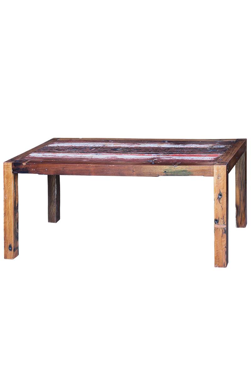Стол обеденный БонифацийОбеденные столы<br>Подарите столовой тепло домашнего уюта со столом &amp;quot;Бонифаций&amp;quot;. Он изготовлен из корабельной древесины, которая покоряет не только своей натуральностью, но и интересной историей, скрытой в каждой ее прожилке. В течение последних 20-40 лет элементы стола являлись частью рыбацкого судна, бороздившего просторы индонезийских вод. Теперь колорит этих мест, смешанный с притягательностью старины, может украсить и ваш дом.&amp;amp;nbsp;&amp;lt;div&amp;gt;&amp;lt;br&amp;gt;&amp;lt;/div&amp;gt;&amp;lt;div&amp;gt;Выполнен из массива древесины старого рыбацкого судна с сохранением оригинальной многослойной окраски.&amp;lt;/div&amp;gt;&amp;lt;div&amp;gt;Подходит для использования как внутри помещения, так и снаружи.&amp;lt;/div&amp;gt;&amp;lt;div&amp;gt;Сборка не требуется.&amp;lt;/div&amp;gt;&amp;lt;div&amp;gt;Страна производитель - Индонезия.&amp;lt;/div&amp;gt;<br><br>Material: Тик<br>Length см: 180<br>Width см: 90<br>Height см: 78