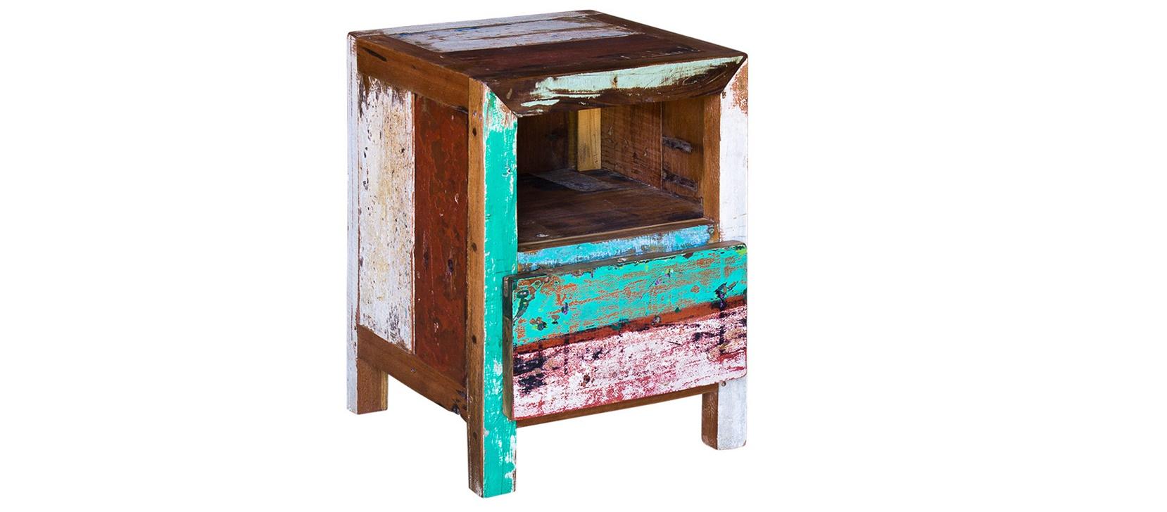 Прикроватная тумба Фон ТизПрикроватные тумбы<br>&amp;quot;Фон Тиз&amp;quot; ? тумба, которая привнесет в ваш дом или двор очарование стиля кантри. Старинная корабельная древесина из Индонезии поделится с ним своим теплом. История, заключенная в антикварной отделке, добавляет нарочито простому дизайну оригинальность.&amp;lt;div&amp;gt;&amp;lt;br&amp;gt;&amp;lt;/div&amp;gt;&amp;lt;div&amp;gt;Тумба, выполненная из старой рыбацкой лодки с сохранением оригинальной многослойной окраски.&amp;lt;/div&amp;gt;&amp;lt;div&amp;gt;Имеет 1 открывающуюся дверцу, 1 полку внутри и 1 открытую полку.&amp;lt;/div&amp;gt;&amp;lt;div&amp;gt;Подходит для использования как внутри помещения, так и снаружи.&amp;lt;/div&amp;gt;&amp;lt;div&amp;gt;Сборка не требуется.&amp;lt;/div&amp;gt;&amp;lt;div&amp;gt;Страна производитель - Индонезия.&amp;lt;/div&amp;gt;<br><br>Material: Тик<br>Ширина см: 60<br>Высота см: 40
