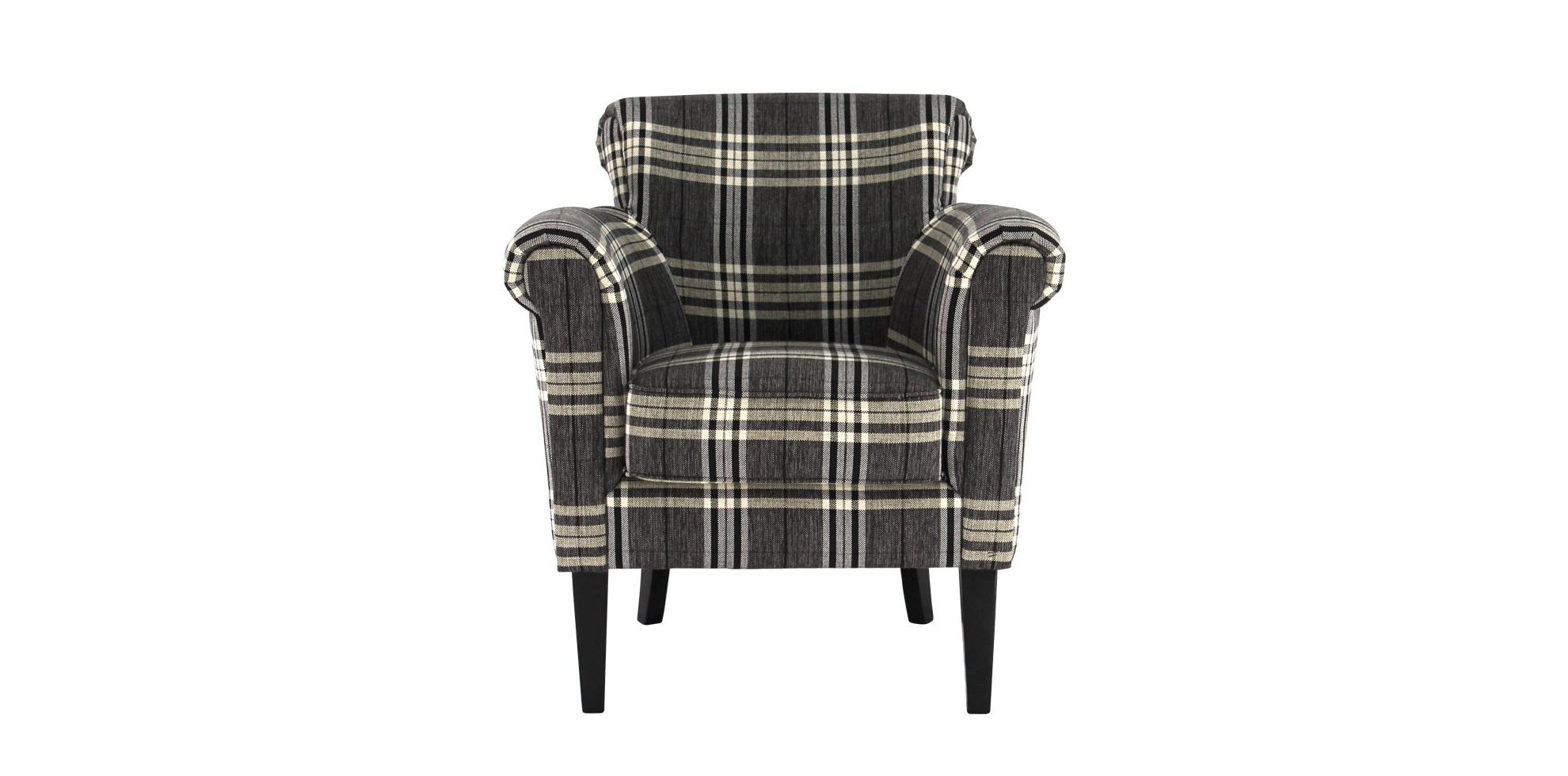 Кресло Lamis ArmchairИнтерьерные кресла<br>Полосатое уютное кресло подобно клетчатому шарфу согреет в своих объятиях. Нейтральная спокойная шотландка очень точно подходит к силуэту &amp;quot;Lamis Armchair&amp;quot;. Поистине лондонское кресло, немного консервативное, но такое семейное. Идеальная компания для него — небольшая подушка и плед. Можно погрузиться в небытие и вздремнуть.<br><br>Material: Текстиль<br>Width см: 77<br>Depth см: 79<br>Height см: 81