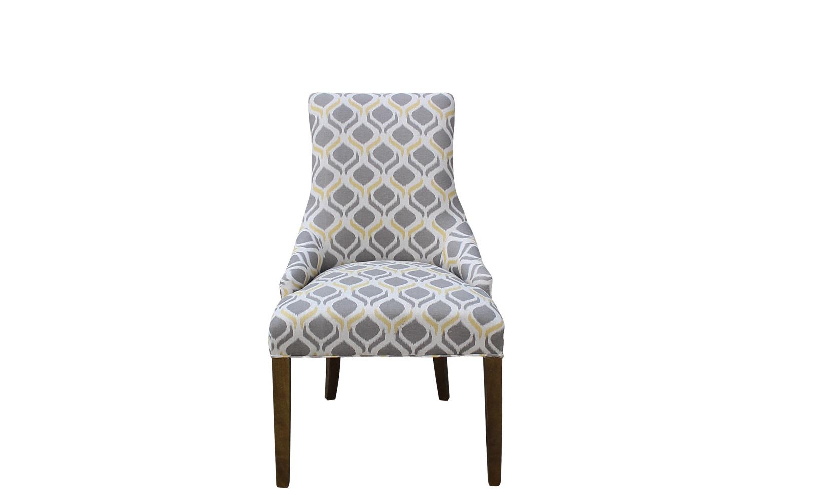 Полукресло Martin ll arm chairПолукресла<br>Оттенки серого и белого цветов часто доминируют в оформлении скандинавских интерьеров. Желтая гамма, присутствующая в оригинальном узоре обивки &amp;quot;Martin ll Arm Chair&amp;quot;, позволит лишить это сочетание нордической строгости и холодности. Абстрактный принт с яркими акцентами создаст в гостиной, столовой или спальне совершенно другое настроение. Он привнесет в современное оформление больше тепла и света, которых так не достает в наших северных широтах.<br><br>Material: Текстиль<br>Width см: 61<br>Depth см: 78<br>Height см: 98