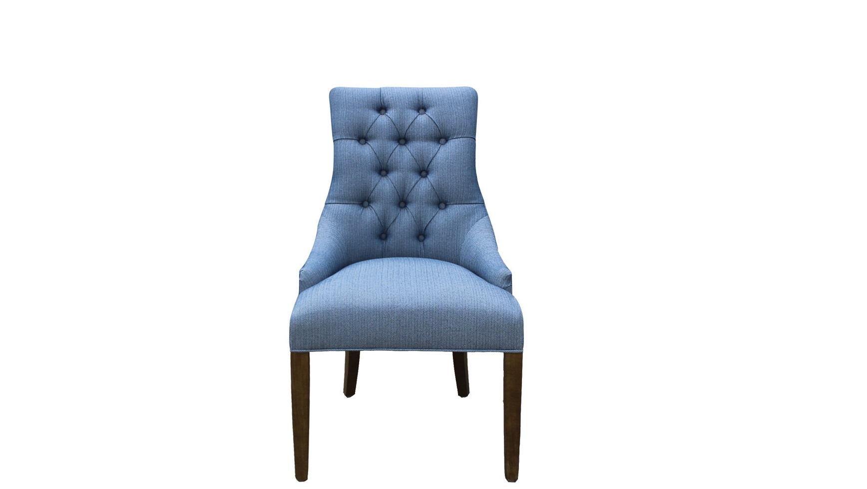Полукресло Martin ll arm chairПолукресла<br>Полукресло &amp;quot;Martin ll Arm Chair&amp;quot; производит великолепное впечатление с первого взгляда. Благодаря насыщенному, но элегантному синему оттенку оно сразу же приковывает к себе внимание. Зацепившись за благородную гамму, глаза уже не могут перестать любоваться и утонченными формами. Высокая спинка, миниатюрные подлокотники и слегка изогнутые ножки заставляют раз и навсегда влюбиться в роскошный образ в стиле американской буржуазии.<br><br>Material: Текстиль<br>Width см: 61<br>Depth см: 78<br>Height см: 98