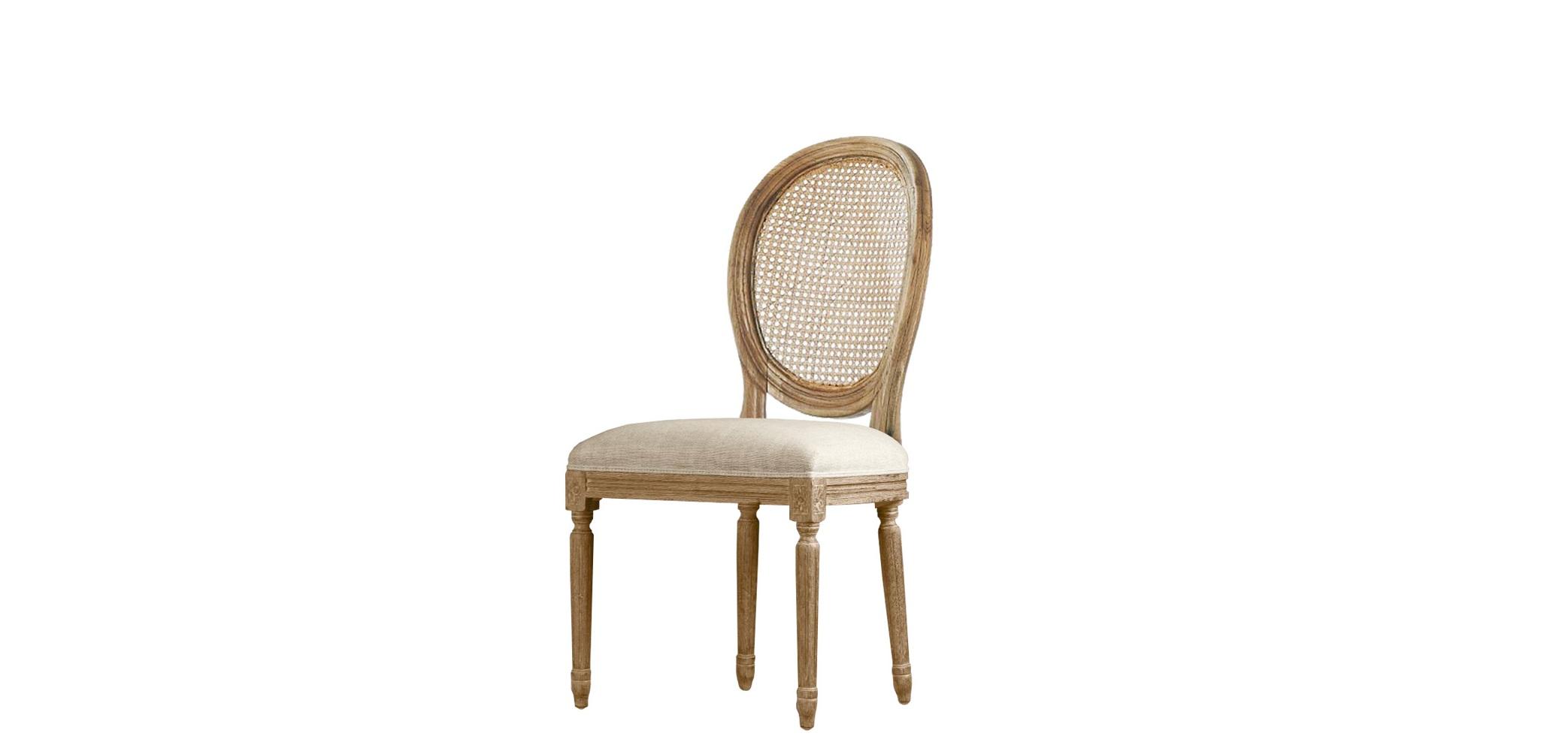 Стул с ротанговым плетением Louis rattan side chairОбеденные стулья<br>Что получится, если объединить классическое оформление во французском стиле и элементы ротангового плетения? Великолепный стул &amp;quot;Louis Rattan Side Chair&amp;quot;! В нем шик гармонично сосуществует с простотой прованского шарма. Первый выражен в сочетании высококачественных материалов и великолепных способов их сложной отделки. Второй ? в естественной красоте нейтральной природной гаммы.<br><br>Material: Текстиль<br>Width см: 52<br>Depth см: 62<br>Height см: 95
