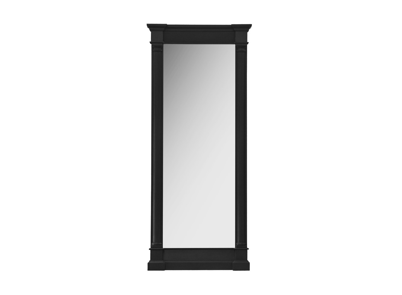 Зеркало Destiny mirrorНастенные зеркала<br>&amp;quot;Destiny Mirror&amp;quot; ? зеркало, в оформлении которого нет ничего лишнего. Настенный декор прямоугольного силуэта выполнен в английском стиле, полном элегантной роскоши. Деревянная рама из черного дерева придает его облику благородство, величественность и некоторую загадочность. Единственными украшениями строгих пропорций выступают резные элементы, которые придают изюминку аскетичному дизайну.<br><br>Material: Дерево<br>Ширина см: 87<br>Высота см: 204<br>Глубина см: 12