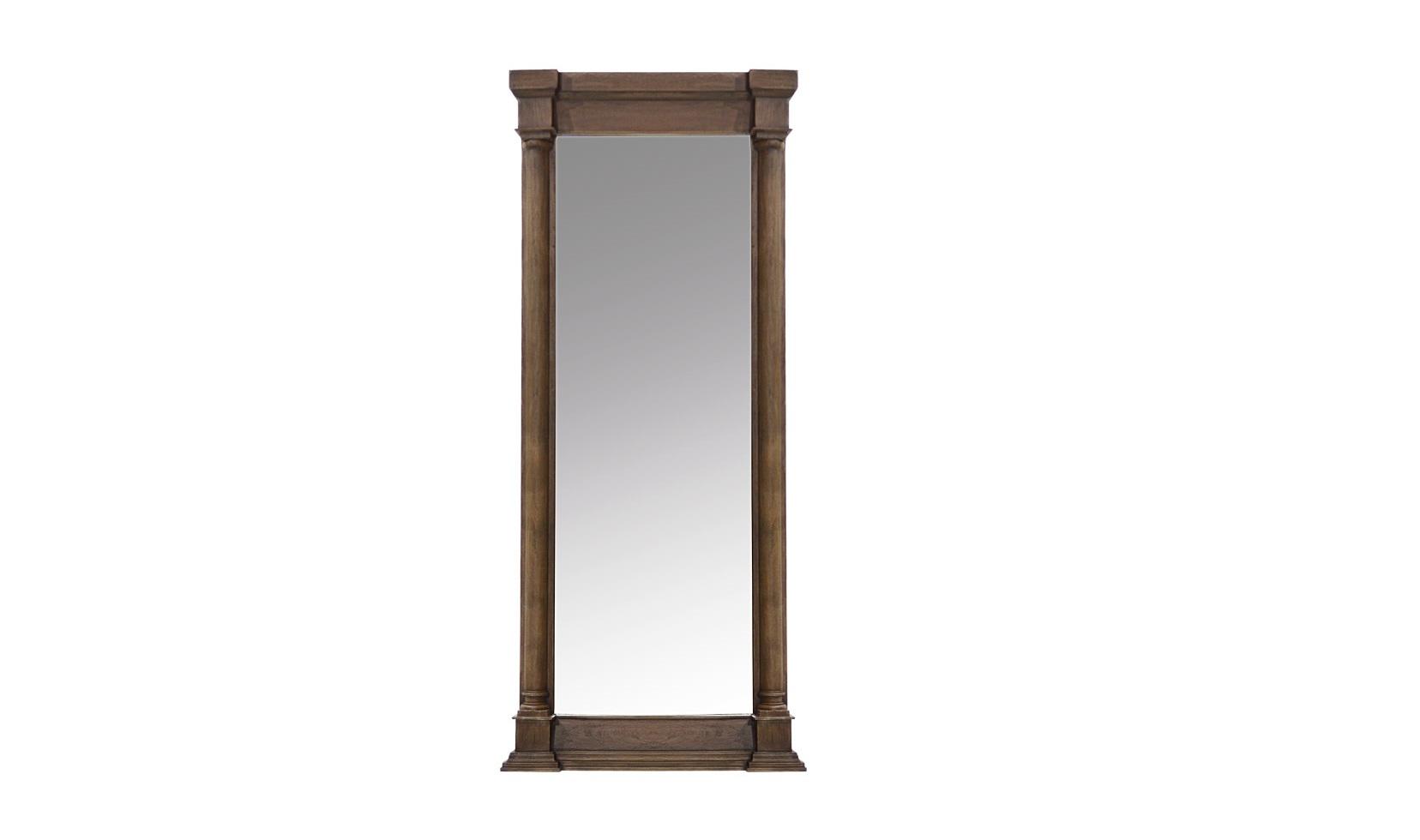 Зеркало Destiny mirrorНастенные зеркала<br>Превосходным дополнением интерьера особняка в английском стиле станет &amp;quot;Destiny Mirror&amp;quot;. Это зеркало, преисполненное элегантности, отменно впишется в сдержанное оформление, источающее утонченную роскошь. Резная деревянная рама в коньячном цвете позволит легко комбинировать декор с мебелью любой благородной гаммы. Геометричные пропорции придадут дизайну пространства больше строгости.<br><br>Material: Дерево<br>Ширина см: 87<br>Высота см: 204<br>Глубина см: 12