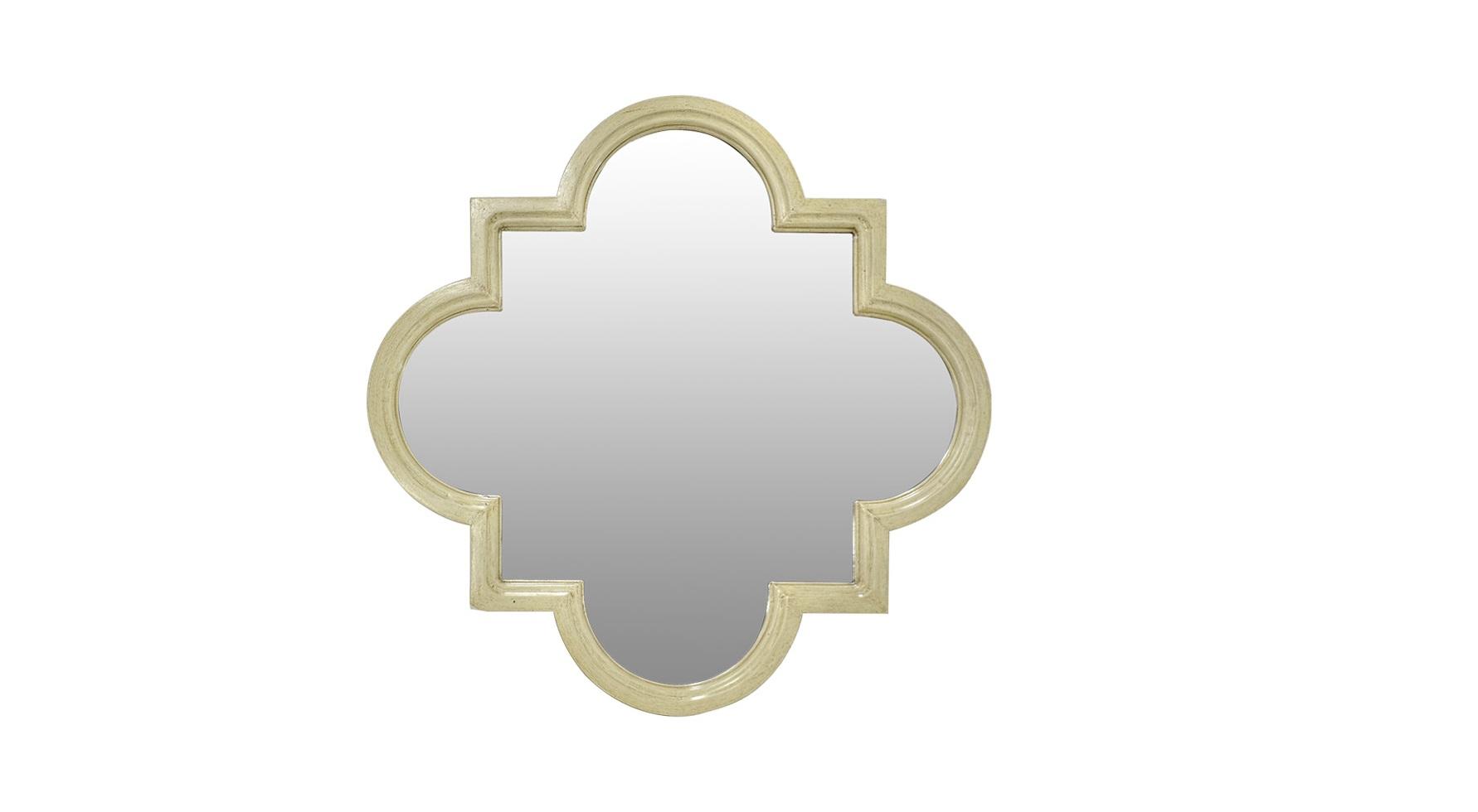 Зеркало Fez MirrorНастенные зеркала<br>Великолепие традиционного византийского орнамента ? четырехлистника или квадрифоля ? положено в основу оформления &amp;quot;Fez Mirror&amp;quot;. Совершенные, цикличные пропорции декора притягивают внимание и завораживают идеальной симметричностью. Сочетание круга и квадрата рождает силуэт, который покоряет античной элегантностью, строгой геометрией и восточным шармом. Деревянная рама делает зеркало идеально подходящим для прованских интерьеров, в которых роскошь встречается с простотой.<br><br>Material: Дерево<br>Width см: 110<br>Depth см: 5<br>Height см: 110
