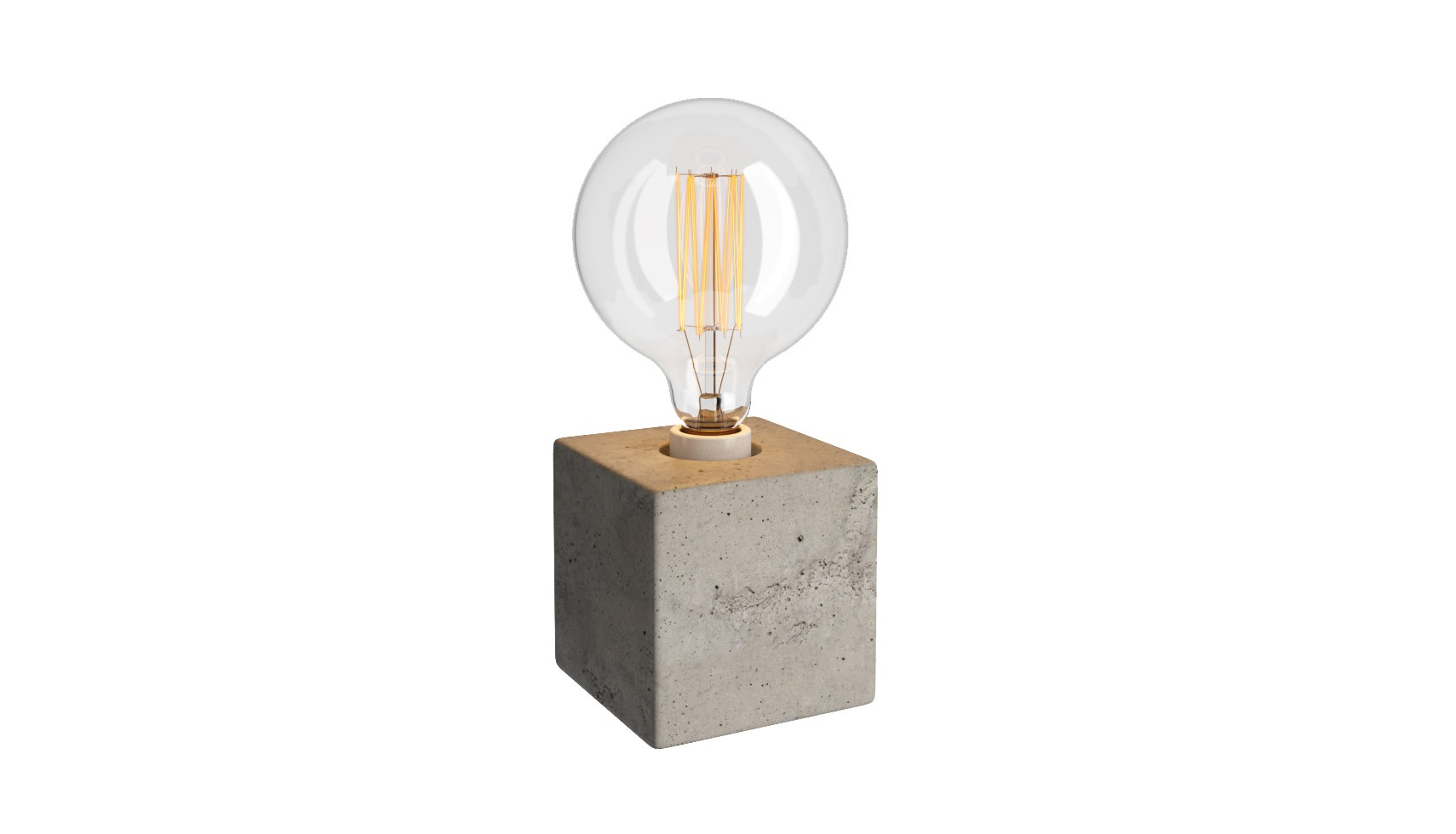 Настольная лампа Cube Table LampДекоративные лампы<br>Простота форм &amp;quot;Cube Table Lamp&amp;quot; на деле оригинальна и притягательна. Сочетание строгой геометрии квадратной подставки и округлого силуэта самой лампы создает удивительно противоречивый, притягивающий к себе внимание дизайн. Контрасты лофта находят продолжение и в комбинации материалов. Хрупкость стекла смотрится особенно утонченно в тандеме с массивным основанием, изготовленным в виде монолитного бетонного куба.&amp;lt;div&amp;gt;&amp;lt;br&amp;gt;&amp;lt;/div&amp;gt;&amp;lt;div&amp;gt;Цоколь: E27.&amp;lt;/div&amp;gt;&amp;lt;div&amp;gt;Мощность лампы: 40w.&amp;lt;/div&amp;gt;&amp;lt;div&amp;gt;Лампа в комплект входит.&amp;lt;/div&amp;gt;<br><br>Material: Стекло<br>Width см: 12<br>Depth см: 12