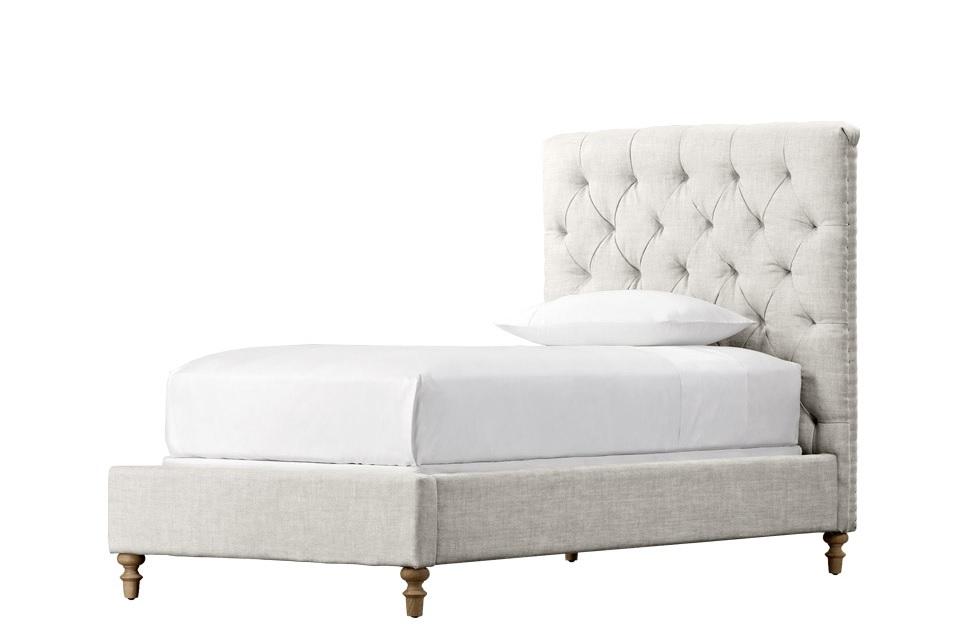 Кровать Franklin ll twin bedПодростковые кровати<br>&amp;quot;Franklin ll Twin Bed&amp;quot; ? превосходная кровать, выполненная во французском стиле и выглядящая так элегантно. Притягательность и лоск облику добавляют классические детали вроде выполненной вручную каретной стяжки, высокого изголовья и аккуратных деревянных ножек. Белоснежная обивка придает комбинации этих элементов притягательный шарм, из-за которого от кровати просто невозможно отвести взгляд!<br><br>Material: Текстиль<br>Length см: 217<br>Width см: 115<br>Height см: 137