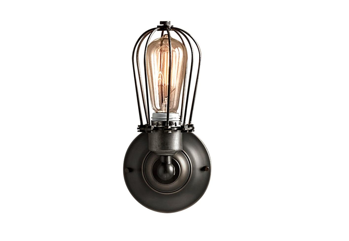 Бра Lionel SconceБра<br>&amp;quot;Lionel Sconce&amp;quot; ? оригинальный винтажный светильник, вдохновленный старинными фабричными лампами. В его образе брутальность сочетается с хрупкостью, рождая удивительно яркий и завораживающий тандем. Абажур из черного металла выглядит не только строго, но и изящно за счет тонких изогнутых прутьев. Кабинет, холл или гостиная в стиле лофт будут смотреться с таким бра очень гармонично.&amp;lt;div&amp;gt;&amp;lt;br&amp;gt;&amp;lt;/div&amp;gt;&amp;lt;div&amp;gt;Тип лампы: накаливания, E14&amp;lt;/div&amp;gt;&amp;lt;div&amp;gt;Мощность: 1 x 40 Вт&amp;lt;/div&amp;gt;&amp;lt;div&amp;gt;Количество лампочек: 1&amp;lt;/div&amp;gt;&amp;lt;div&amp;gt;Лампочка в комплект входит&amp;lt;/div&amp;gt;<br><br>Material: Металл<br>Ширина см: 13<br>Высота см: 26<br>Глубина см: 11