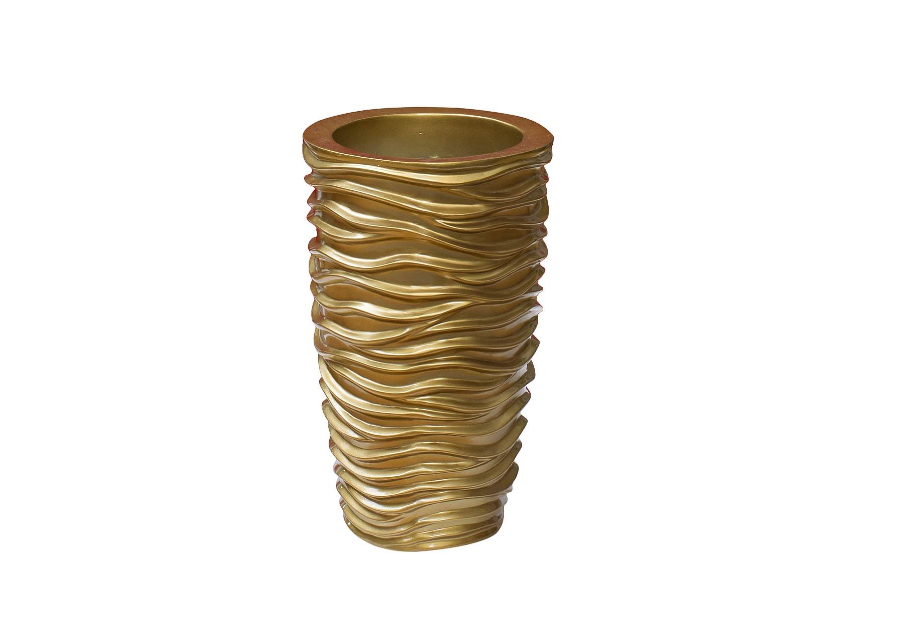КашпоКашпо<br>Золотистое кашпо от Garda Decor элегантно дополнит любую часть интерьера. Плавные волны на стенках кашпо создают иллюзию водной ряби. В результате подобных объемных складочек кашпо схоже с оригинальной скульптурой. Подойдет для восточных&amp;amp;nbsp;&amp;lt;span style=&amp;quot;line-height: 24.9999px;&amp;quot;&amp;gt;и колониальных&amp;amp;nbsp;&amp;lt;/span&amp;gt;пространств, где много декоративных элементов.<br><br>Material: Керамика<br>Width см: 29<br>Depth см: 29<br>Height см: 47