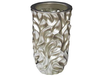 Кашпо (garda decor) серебристый 30x48x30 см.