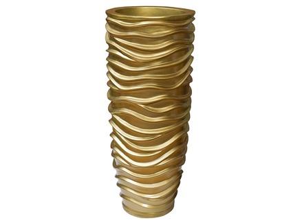 Кашпо (garda decor) золотой 34x84x34 см.