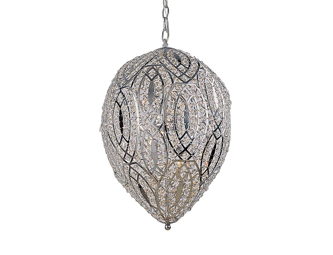 Подвесной светильник Oprah ChandelierПодвесные светильники<br>&amp;quot;Oprah Chandelier&amp;quot; ? роскошь в ее самом чистом исполнении. Эта люстра, в которой доминируют плавные формы, отличается элегантностью и изяществом. Металл и стекло, использованные в конструкции, делают ее облик &amp;amp;nbsp;шикарным. Отражаясь в многочисленных гранях кристаллов, свет начинает играть с вами в игру, из которой он всегда выходит победителем. Отследить движение всех бликов невозможно ? остается лишь наслаждаться их красотой, поддерживаемой великолепием французского дизайна.&amp;lt;div&amp;gt;&amp;lt;br&amp;gt;&amp;lt;/div&amp;gt;&amp;lt;div&amp;gt;Подвесной светильник выполнен из металла стального цвета.&amp;lt;/div&amp;gt;&amp;lt;div&amp;gt;Плафон с оригинальным орнаментом.&amp;lt;/div&amp;gt;&amp;lt;div&amp;gt;Высота светильника регулируется за счет звеньев цепи.&amp;lt;/div&amp;gt;&amp;lt;div&amp;gt;Цоколь: G9 (галогенные лампы)&amp;lt;/div&amp;gt;&amp;lt;div&amp;gt;Мощность: 40W&amp;lt;/div&amp;gt;&amp;lt;div&amp;gt;Количество ламп: 6&amp;lt;/div&amp;gt;&amp;lt;div&amp;gt;Лампы входят в комплект&amp;lt;/div&amp;gt;<br><br>Material: Металл<br>Height см: 50<br>Diameter см: 38