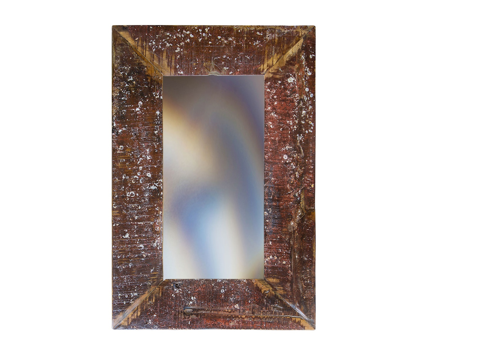 Зеркало Свет мой зеркальце 90Настенные зеркала<br>&amp;lt;div&amp;gt;Это зеркало найдет ответы на все вопросы о привлекательности. Внешний вид рамы отражает налет десятилетий. Краска местами слезла, оставив шероховатости и следы нескольких окрашиваний. Такая обработка подчеркивает старину предмета. Оно идеально подойдет для винтажных и эклектичных интерьеров.&amp;lt;/div&amp;gt;&amp;lt;div&amp;gt;&amp;lt;br&amp;gt;&amp;lt;/div&amp;gt;Зеркало выполнено из фрагментов настоящего рыболовецкого судна, возраст которого 20-40 лет. Окрас сохранён оригинальный.<br><br>Material: Тик<br>Width см: 60<br>Depth см: 4<br>Height см: 90
