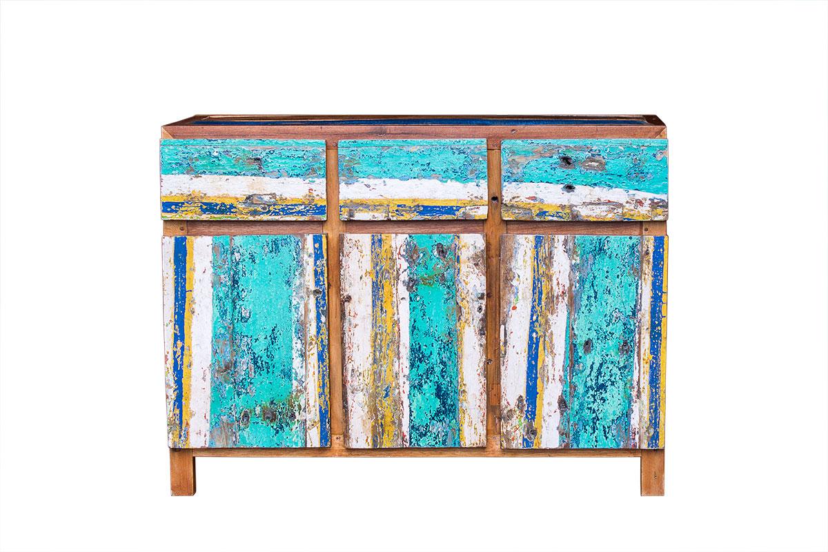 Комод МарсоИнтерьерные комоды<br>&amp;lt;div&amp;gt;Яркий, харизматичный комод цвета морской волны стирает грани между мебелью и искусством. Облик &amp;quot;Марсо&amp;quot; искусно соединил прозаичность предмета и лирику живописи. Его ящики — части абстрактной картины, а фасад — это мольберт, где художник вольно экспериментирует с красками. Этот комод добавит экспрессии любому интерьеру.&amp;lt;/div&amp;gt;&amp;lt;div&amp;gt;&amp;lt;br&amp;gt;&amp;lt;/div&amp;gt;&amp;lt;div style=&amp;quot;text-align: justify;&amp;quot;&amp;gt;&amp;lt;span style=&amp;quot;line-height: 1.78571;&amp;quot;&amp;gt;Комод, выполненный из массива древесины старого рыбацкого судна, такой как: тик, махогон, суар, с сохранением оригинальной многослойной окраски.<br><br>Имеет 3 выдвижных ящика и 3 открывающихся дверцы. Сборка не требуется.<br>Страна производитель - Индонезия.&amp;lt;/span&amp;gt;&amp;lt;/div&amp;gt;<br><br>Material: Тик<br>Length см: 50<br>Width см: 120<br>Height см: 90