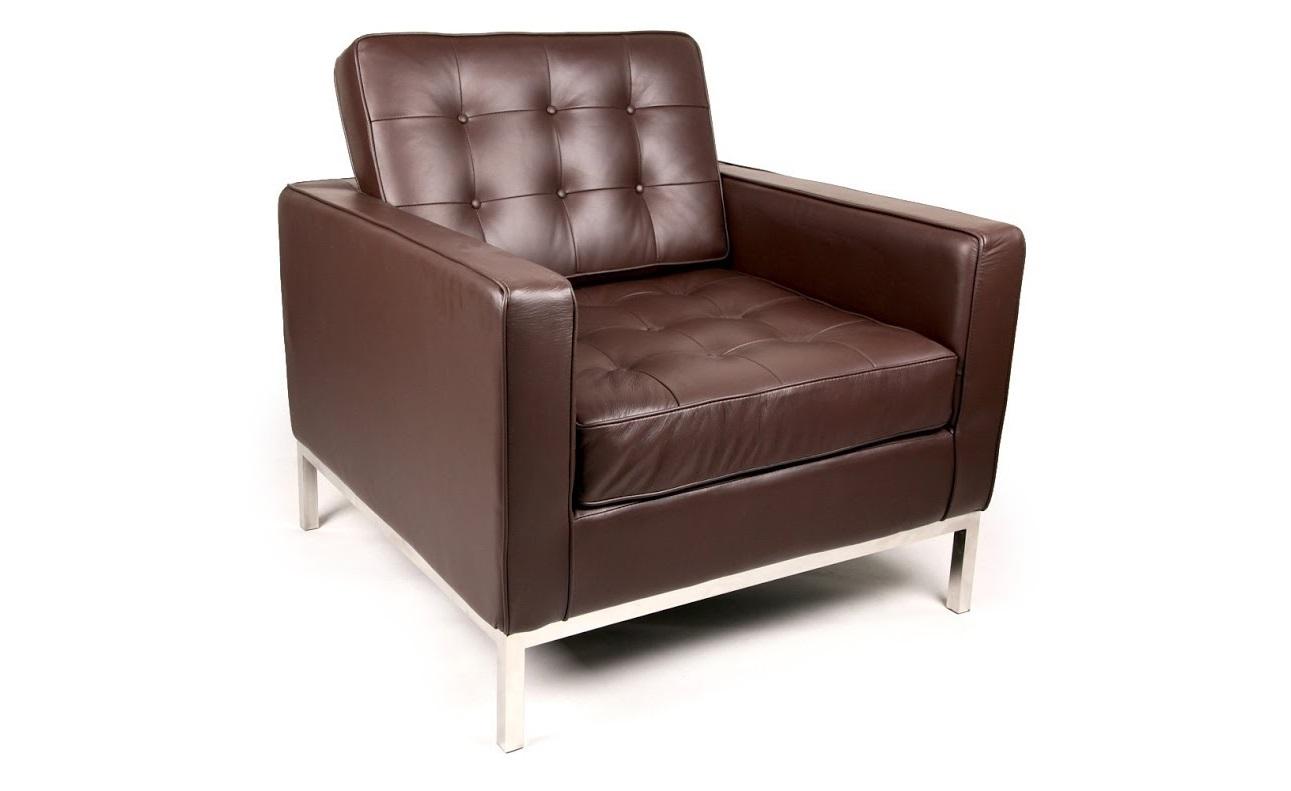 Кресло Knoll КоричневоеКожаные кресла<br>Благородная коричневая кожа в строгой отделке ? что может быть прекраснее? Что может лучше подойти для минималистичного оформления, где в почете совершенные пропорции? Солидное и аскетичное кресло от Флоренс Нолл просто создано для строгих и серьезных интерьеров. Его очертания основаны на идеальных формах квадрата, которые придают солидному облику больше шарма. В кабинете у успешного предпринимателя такая икона роскошной сдержанности будет выглядеть очень гармонично.&amp;lt;div&amp;gt;&amp;lt;br&amp;gt;&amp;lt;/div&amp;gt;&amp;lt;div&amp;gt;Данная модель кресла Knoll изготовлена из кожи коллекции Rome, произведенной в Италии. Вы можете выбрать один из 11 насыщенных и благородных оттенков.&amp;lt;/div&amp;gt;&amp;lt;div&amp;gt;Срок изготовления: 20-25 рабочих дней после оплаты заказа.&amp;amp;nbsp;&amp;lt;/div&amp;gt;<br><br>Material: Кожа<br>Width см: 83<br>Depth см: 80<br>Height см: 80