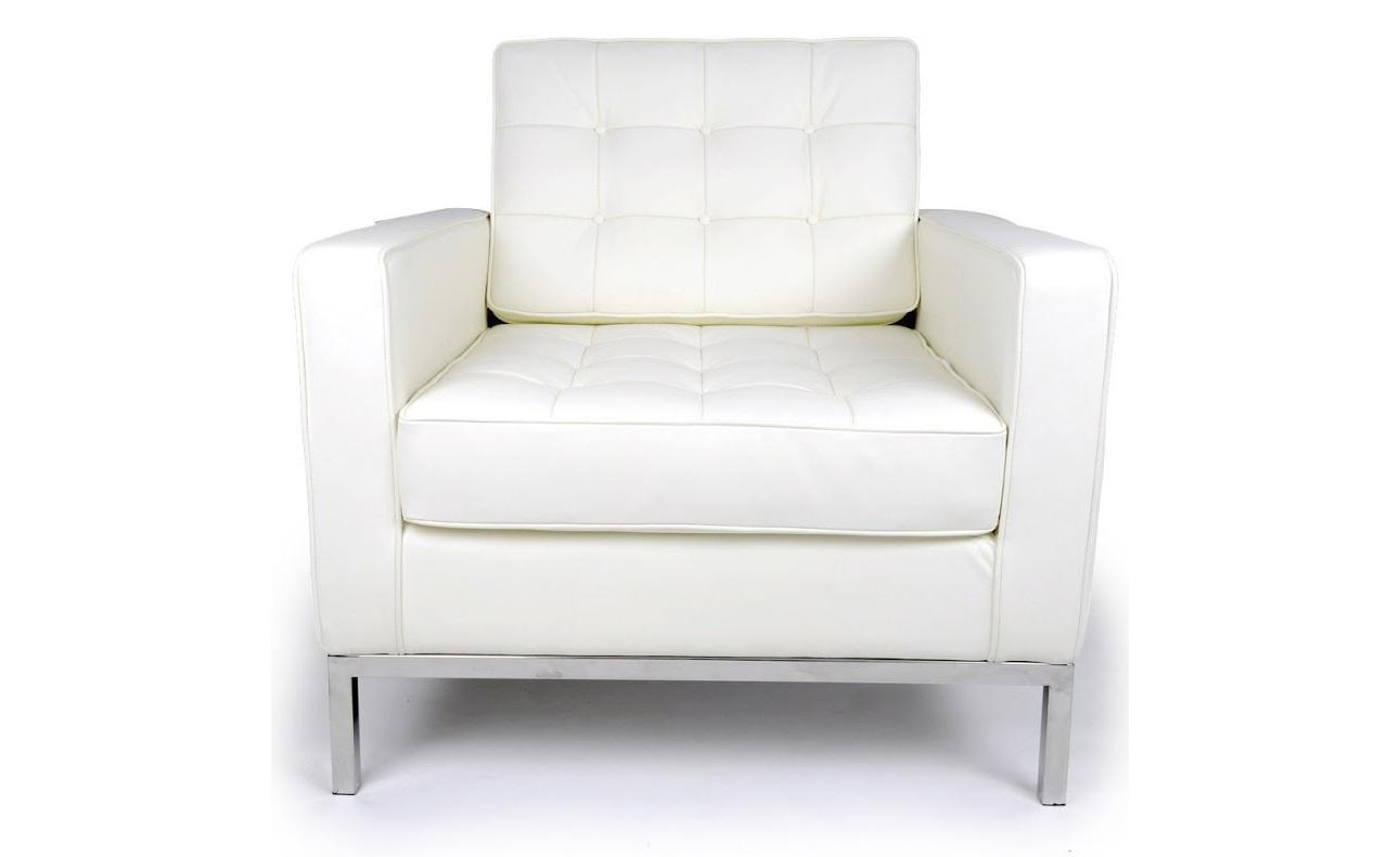 Кресло Knoll БелоеКожаные кресла<br>Безупречность форм, изящество отделки и невесомый силуэт. Сложно представить, что все это подойдет к брутальному лофту или практичному минимализму. Но кресло &amp;quot;Knoll&amp;quot; из белоснежной итальянской кожи превосходно впишется в такие интерьеры. За счет контраста холодного металла и теплоты утонченного натурального материала, оно отлично впишется в такие пространства. Совершенство дизайна, созданного Флоренс Нолл еще в 1954 году, добавит кабинету или гостиной очарование стиля ретро.&amp;lt;div&amp;gt;&amp;lt;br&amp;gt;&amp;lt;/div&amp;gt;&amp;lt;div&amp;gt;Данная модель кресла Knoll изготовлена из кожи коллекции Rome, произведенной в Италии. Вы можете выбрать один из 11 насыщенных и благородных оттенков.&amp;lt;/div&amp;gt;&amp;lt;div&amp;gt;Срок изготовления: 20-25 рабочих дней после оплаты заказа.&amp;amp;nbsp;&amp;lt;/div&amp;gt;<br><br>Material: Кожа<br>Width см: 83<br>Depth см: 80<br>Height см: 80
