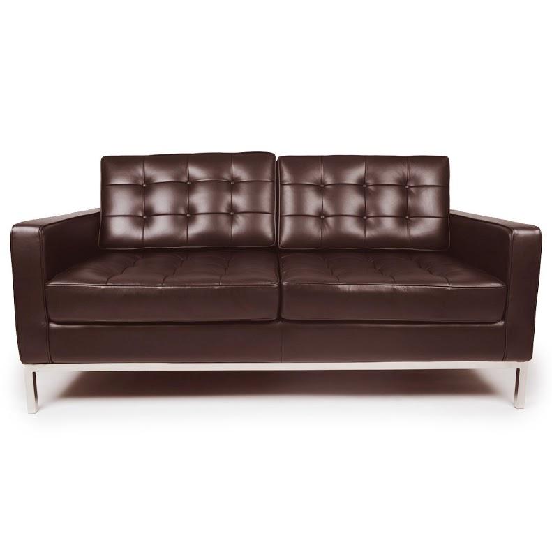 Диван двухместный Knoll КоричневыйКожаные диваны<br>Аккуратный диван, дизайн которого разработан Флоренс Нолл в 1954 году, станет отменным дополнением для минималистичных кабинетов, приемных и гостиных. Безупречная геометрия, основывающаяся на объединении прямых линий, превосходно впишется в строгое и элегантное оформление. Качественная кожа в сочетании с полированным до блеска металлом будет выглядеть презентабельно. Она подчеркнет статус своего владельца и укажет на его успешность.&amp;lt;div&amp;gt;&amp;lt;br&amp;gt;&amp;lt;div&amp;gt;Данная модель дивана Knoll изготовлена из кожи коллекции Rome, произведенной в Италии. Вы можете выбрать один из 11 насыщенных и благородных оттенков.&amp;lt;/div&amp;gt;&amp;lt;div&amp;gt;Срок изготовления: 20-25 рабочих дней после оплаты заказа.&amp;lt;/div&amp;gt;&amp;lt;/div&amp;gt;<br><br>Material: Кожа<br>Width см: 143<br>Depth см: 80<br>Height см: 80