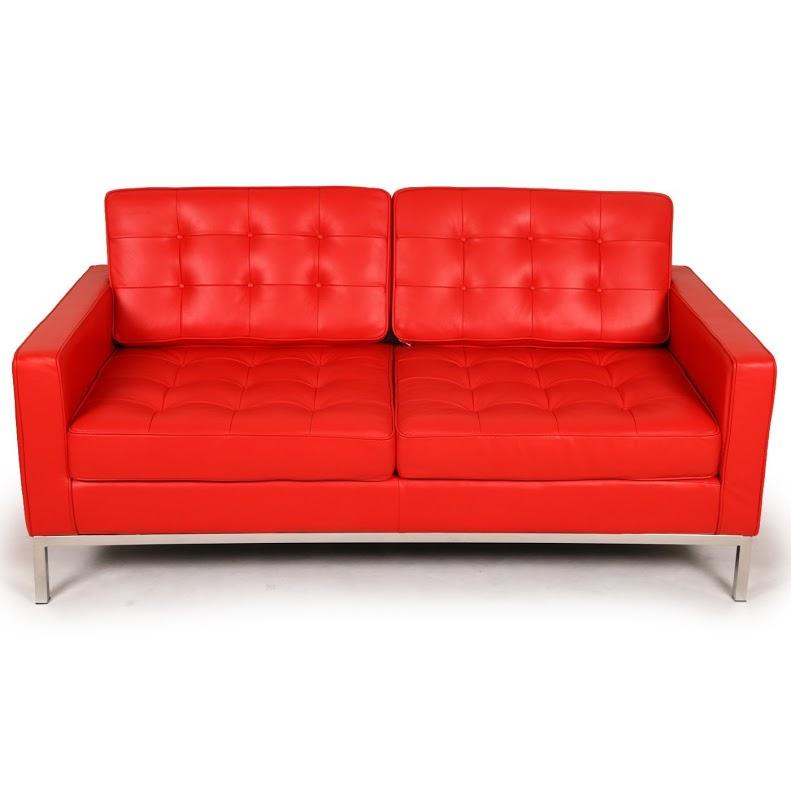 Диван двухместный Knoll КрасныйДвухместные диваны<br>Даже минималистичный дизайн нуждается в ярких акцентах и красках! Получить их можно при помощи этого дивана. Являющийся иконой аскетичного оформления с 1954 года, он создан великой Флоренс Нолл. Соединив в своем творении строгость пропорций с чувственной отделкой, она смогла создать силуэт, который идеально подходит даже для самых современных интерьеров. Это ей удалось благодаря использованию в очертаниях дивана идеальной геометрии квадрата, которую так почитал ее учитель ? Людвиг Мис ван дер Роэ.&amp;lt;div&amp;gt;&amp;lt;br&amp;gt;&amp;lt;/div&amp;gt;&amp;lt;div&amp;gt;Данная модель дивана Knoll изготовлена из кожи коллекции Rome, произведенной в Италии. Вы можете выбрать один из 11 насыщенных и благородных оттенков.&amp;lt;/div&amp;gt;&amp;lt;div&amp;gt;Срок изготовления: 20-25 рабочих дней после оплаты заказа.&amp;amp;nbsp;&amp;lt;/div&amp;gt;<br><br>Material: Кожа<br>Width см: 143<br>Depth см: 80<br>Height см: 80
