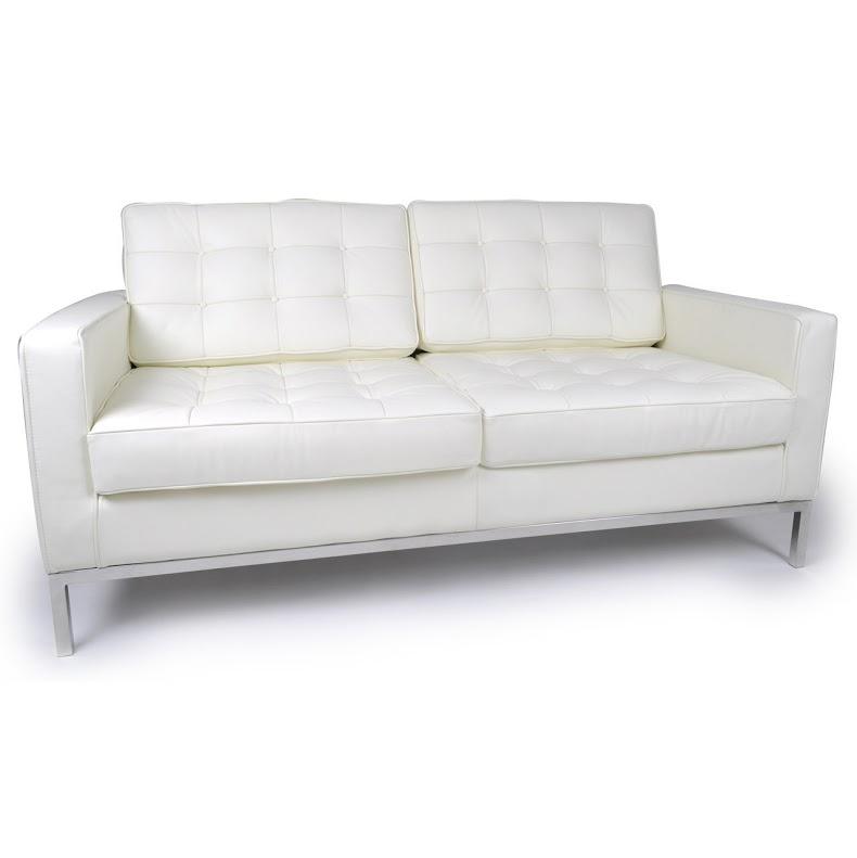 Диван двухместный Knoll БелыйКожаные диваны<br>Белоснежный диван ? превосходный предмет мебели для дополнения изысканных и элегантных интерьеров. Несмотря на свои строгие формы, он отличается особенной утонченностью, которую ему дарит отделка из итальянской кожи высшего качества. Она придает узнаваемому силуэту, созданному Флоренс Нолл еще в 1954 году, новые грани изящества. Лишь холодность металлических ножек напоминает о сдержанности минималистичного дизайна.&amp;lt;div&amp;gt;&amp;lt;br&amp;gt;&amp;lt;/div&amp;gt;&amp;lt;div&amp;gt;Данная модель дивана Knoll изготовлена из кожи коллекции Rome, произведенной в Италии. Вы можете выбрать один из 11 насыщенных и благородных оттенков.&amp;lt;/div&amp;gt;&amp;lt;div&amp;gt;Срок изготовления: 20-25 рабочих дней после оплаты заказа.&amp;amp;nbsp;&amp;lt;/div&amp;gt;<br><br>Material: Кожа<br>Width см: 143<br>Depth см: 80<br>Height см: 80