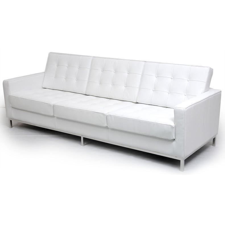 Диван трехместный Knoll БелыйКожаные диваны<br>Философия серии мебели &amp;quot;Knoll&amp;quot;, строящаяся на сочетании практичности и строгости, воплощена в облике этого дивана. Его минималистичный дизайн, разработанный Флоренс Нолл в 1954 году, идеально подходит и для современных интерьеров. Сдержанная роскошь и невероятный комфорт делают его творением, которое будет актуально во все времена. Белоснежная кожа добавляет аскетичной геометрии изысканность, перед которой не устоят ценители элегантности.&amp;lt;div&amp;gt;&amp;lt;br&amp;gt;&amp;lt;/div&amp;gt;&amp;lt;div&amp;gt;Данная модель дивана Knoll изготовлена из кожи коллекции Rome, произведенной в Италии. Вы можете выбрать один из 11 насыщенных и благородных оттенков.&amp;lt;/div&amp;gt;&amp;lt;div&amp;gt;&amp;lt;span style=&amp;quot;line-height: 1.78571;&amp;quot;&amp;gt;Срок изготовления: 20-25 рабочих дней после оплаты заказа.&amp;amp;nbsp;&amp;lt;/span&amp;gt;&amp;lt;br&amp;gt;&amp;lt;/div&amp;gt;<br><br>Material: Кожа<br>Width см: 204<br>Depth см: 80<br>Height см: 80