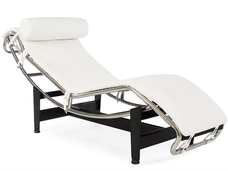 Шезлонг Le Corbusier БелыйШезлонги<br>Комфорт, оригинальность, минимализм и изысканность ? все эти качества на удивление гармонично сочетаются в оформлении кресла-шезлонга. Соединить их в правильной дозировке получилось у французского дизайнера Ле Корбюзье еще в 1928 году. Досконально продумав конструкцию, он смог создать шезлонг, от расслабления в котором можно получить максимальное удовольствие. Пионер модернизма подарил креслу не только невероятный комфорт, но и интересный дизайн. Холод металлических элементов, отличающихся плавными изгибами, превосходно оттеняется мягкостью белоснежной итальянской кожи и исходящим от нее теплом.&amp;lt;div&amp;gt;&amp;lt;br&amp;gt;&amp;lt;/div&amp;gt;&amp;lt;div&amp;gt;При изготовлении этой модели используется итальянская кожа высшей категории, коллекции Rome.&amp;lt;/div&amp;gt;&amp;lt;div&amp;gt;Срок изготовления: 20-25 рабочих дней после оплаты заказа.&amp;lt;/div&amp;gt;<br><br>Material: Кожа<br>Length см: 160<br>Width см: 55<br>Height см: 56