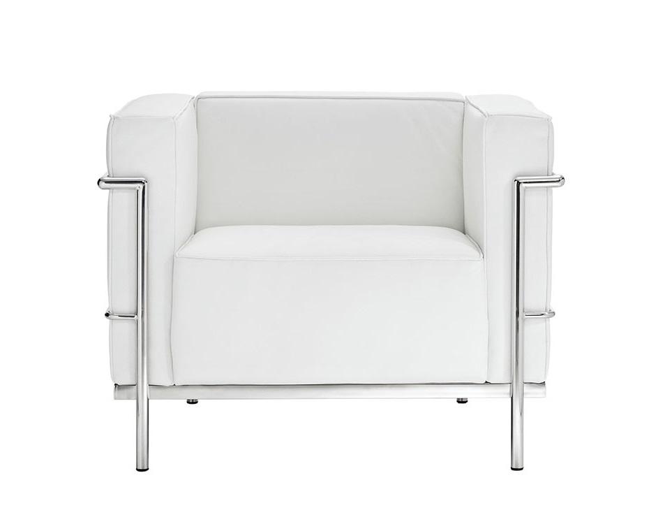 Кресло Le Corbusier БелыйКожаные кресла<br>&amp;lt;div&amp;gt;&amp;lt;span style=&amp;quot;line-height: 1.78571;&amp;quot;&amp;gt;Кресло и диваны LC3 спроектированы Ле Корбюзье совместно с Пьером&amp;amp;nbsp;&amp;lt;/span&amp;gt;&amp;lt;span style=&amp;quot;line-height: 24.9999px;&amp;quot;&amp;gt;Жэннере&amp;lt;/span&amp;gt;&amp;lt;span style=&amp;quot;line-height: 1.78571;&amp;quot;&amp;gt;&amp;amp;nbsp;и Шарлоттой Периан&amp;amp;nbsp;в 1928 году и год спустя представлены на Salon d&amp;#39; Automne в Париже. Вдохновлённые линиями школы Баухауз, архитекторы создали серию Grand Confort LC3, призванную привнести идеи архитектуры во внутренний интерьер. Мебель из этой коллекции станет эпицентром любого интерьерного пространства.&amp;lt;/span&amp;gt;&amp;lt;br&amp;gt;&amp;lt;/div&amp;gt;&amp;lt;br&amp;gt;&amp;lt;div&amp;gt;<br>При изготовлении этой модели используется итальянская кожа высшей категории, коллекции Rome.&amp;lt;/div&amp;gt;<br><br>Material: Кожа<br>Length см: 106<br>Depth см: 74<br>Height см: 73
