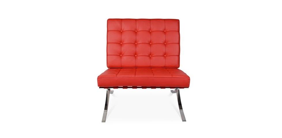 Кресло BarcelonaКожаные кресла<br>В 1929 году на Международной выставке в Барселоне мир увидел это кресло. С момента своего создания, оно сразу же стало иконой минимализма и синонимом сдержанной роскоши. Его дизайн, разработанный архитектором-модернистом Людвигом Мис ван дер Роэ, очаровал поклонников безупречной геометрией строгих форм квадрата. Этим пропорциям, которые актуальны до сих пор, эффектный облик дарит отделка из красной эко-кожи высшего качества.&amp;lt;div&amp;gt;&amp;lt;br&amp;gt;&amp;lt;/div&amp;gt;&amp;lt;div&amp;gt;Варианты отделки:&amp;lt;/div&amp;gt;&amp;lt;div&amp;gt;&amp;lt;ul&amp;gt;&amp;lt;li&amp;gt;&amp;lt;span style=&amp;quot;line-height: 1.78571;&amp;quot;&amp;gt;Эко-кожа. Вы можете выбрать один из 11 благородных оттенков.&amp;lt;/span&amp;gt;&amp;lt;br&amp;gt;&amp;lt;/li&amp;gt;&amp;lt;li&amp;gt;&amp;lt;span style=&amp;quot;line-height: 1.78571;&amp;quot;&amp;gt;Текстиль коллекций Paris и Furor. Износостойкая ткань насыщенных оттенков.&amp;lt;/span&amp;gt;&amp;lt;br&amp;gt;&amp;lt;/li&amp;gt;&amp;lt;/ul&amp;gt;&amp;lt;/div&amp;gt;&amp;lt;div&amp;gt;Ножки кресла комплектуются прозрачными пластиковыми наконечниками, которые защищают твердые напольные покрытия от повреждений.&amp;lt;/div&amp;gt;&amp;lt;div&amp;gt;Срок изготовления: 20-25 рабочих дней после оплаты заказа.&amp;lt;/div&amp;gt;<br><br>Material: Кожа<br>Length см: 76<br>Width см: 76<br>Depth см: 47<br>Height см: 82