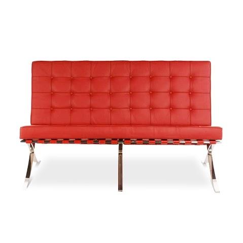 Диван двухместный BarcelonaКожаные диваны<br>Аскетичные формы дивана &amp;quot;Barcelona&amp;quot; с 1929 года позволяют ему быть одной из самых узнаваемых икон минималистичного стиля. Созданные архитектором Людвигом Мис ван дер Роэ, они вдохновлены пропорциями курульного кресла, которое считалось символом власти у древнеримской знати. Простая геометрия строгих фигур выглядит эффектно и выразительно в яркой отделке. Эко-кожа красного цвета дарит притягательный облик мебели, основанной на совершенстве квадрата.&amp;lt;div&amp;gt;&amp;lt;br&amp;gt;&amp;lt;/div&amp;gt;&amp;lt;div&amp;gt;Варианты отделки:&amp;lt;/div&amp;gt;&amp;lt;div&amp;gt;&amp;lt;ul&amp;gt;&amp;lt;li&amp;gt;&amp;lt;span style=&amp;quot;line-height: 1.78571;&amp;quot;&amp;gt;Эко-кожа. Вы можете выбрать один из 11 благородных оттенков.&amp;lt;/span&amp;gt;&amp;lt;br&amp;gt;&amp;lt;/li&amp;gt;&amp;lt;li&amp;gt;&amp;lt;span style=&amp;quot;line-height: 1.78571;&amp;quot;&amp;gt;Текстиль коллекций Paris и Furor. Износостойкая ткань насыщенных оттенков.&amp;lt;/span&amp;gt;&amp;lt;br&amp;gt;&amp;lt;/li&amp;gt;&amp;lt;/ul&amp;gt;&amp;lt;/div&amp;gt;&amp;lt;div&amp;gt;Ножки комплектуются прозрачными пластиковыми наконечниками, которые защищают твердые напольные покрытия от повреждений.&amp;lt;/div&amp;gt;&amp;lt;div&amp;gt;Срок изготовления: 20-25 рабочих дней после оплаты заказа. &amp;amp;nbsp;&amp;lt;/div&amp;gt;<br><br>Material: Кожа<br>Length см: 152<br>Width см: 76<br>Depth см: 47<br>Height см: 82