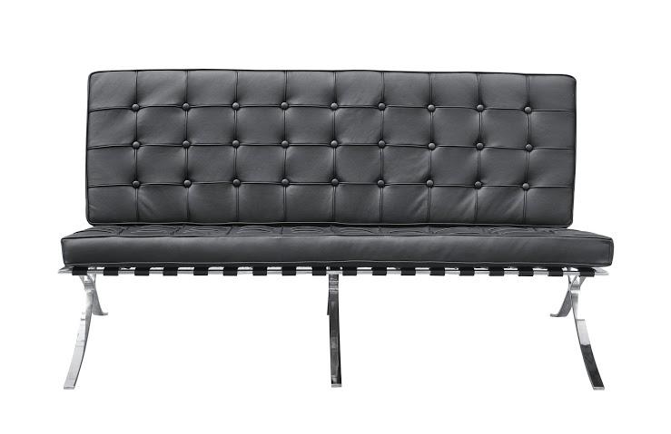Диван двухместный BarcelonaКожаные диваны<br>В это трудно поверить, но диван &amp;quot;Barcelona&amp;quot; был создан для немецкого павильона Международной выставки 1929 года, проходившей в Барселоне. Сегодня, спустя более 80 лет, он представляет собой настоящую икону минимализма с одними из самых узнаваемых очертаний. Архитектор Людвиг Мис ван дер Роэ, положивший в основу своего творения идеальную геометрию квадрата, смог добиться совершенных пропорций. Черная эко-кожа в сочетании с блеском полированного металла позволяет им выглядеть притягательно. &amp;amp;nbsp;&amp;amp;nbsp;<br><br><br><br>&amp;lt;div&amp;gt;&amp;lt;br&amp;gt;&amp;lt;/div&amp;gt;&amp;lt;div&amp;gt;Варианты отделки:&amp;lt;/div&amp;gt;&amp;lt;div&amp;gt;Эко-кожа Domus от компании Ametist. Вы можете выбрать один из 11 благородных оттенков.&amp;lt;/div&amp;gt;&amp;lt;div&amp;gt;Текстиль коллекций Paris и Furor. Износостойкая ткань насыщенных оттенков.&amp;lt;/div&amp;gt;&amp;lt;div&amp;gt;Ножки комплектуются прозрачными пластиковыми наконечниками, которые защищают твердые напольные покрытия от повреждений.&amp;lt;/div&amp;gt;&amp;lt;div&amp;gt;Срок изготовления: 20-25 рабочих дней после оплаты заказа.&amp;lt;/div&amp;gt;<br><br>Material: Кожа<br>Length см: 152<br>Width см: 76<br>Depth см: 47<br>Height см: 82