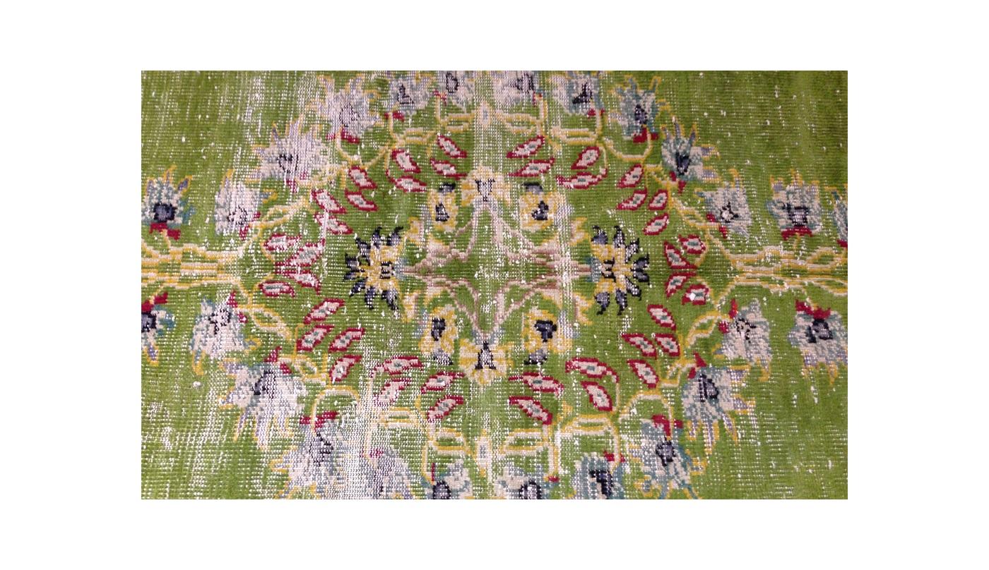 Carpet Story Ковер OVERDYED ярко-зеленый с желтыми цветами
