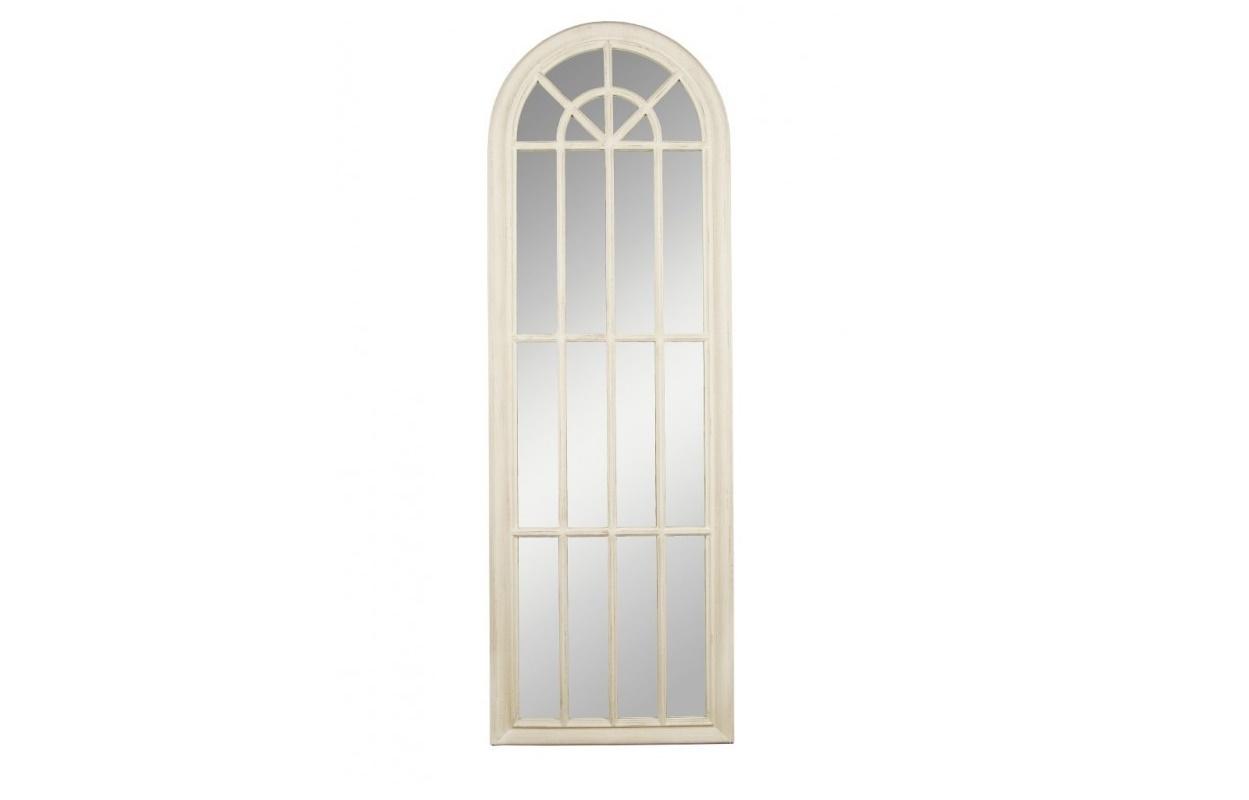 Зеркало MilanaНапольные зеркала<br>Витражное зеркало, напоминающее створку окна, станет не только полезным аксессуаром, но и дополнительным источником света. Приятный бежево-молочный цвет создаст просторную атмосферу и не перегрузит пространство. Оно подойдет для интерьеров в спокойных тонах: спальни или гостиной в стиле неоклассики или прованс.<br><br>Material: МДФ<br>Width см: 60<br>Depth см: 4<br>Height см: 180
