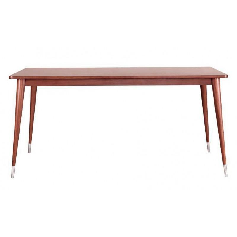 Стол обеденный BruniОбеденные столы<br>Минималистичный обеденный стол &amp;quot;Bruni&amp;quot; не будет отвлекать от главного — полноценной трапезы в кругу близких людей. Широкая столешница и ножки-пики элегантно дополняют друг друга. Ничего лишнего. Только натуральное дерево, аккуратность и точность линий. Идеальный предмет для кухни в скандинавском или минималистичном стиле.<br><br>Material: Тополь<br>Width см: 160<br>Depth см: 90<br>Height см: 76