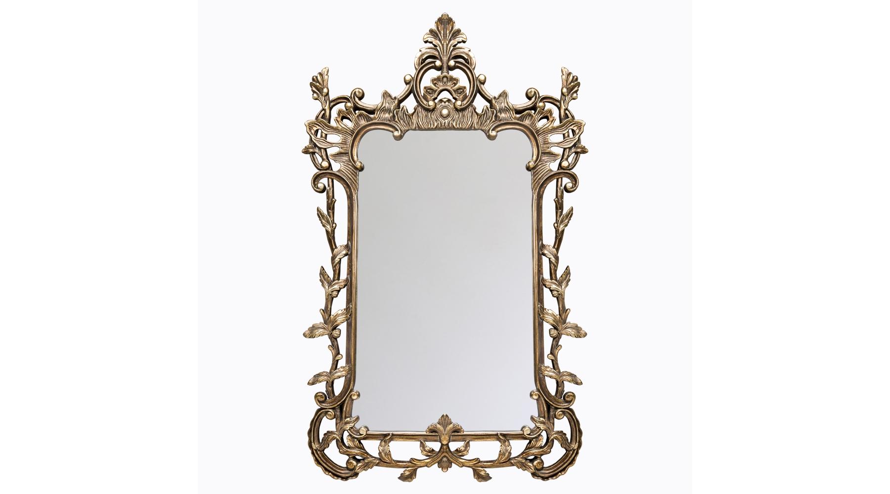 Настенное зеркало «Мирей»Настенные зеркала<br>Зеркало в изысканном античном стиле обрамлено в роскошную резную раму цвета старинной бронзы. Обрамление изготовлено из мебельного полиуретана. Этот современный материал прочнее многих металлов, поэтому за сохранность тонкой резьбы можно не волноваться. Он также долговечен, не боится влаги, не требует специфического ухода. Толщина зеркала составляет 5 мм, сверху оно покрыто слоем серебряной амальгамы. Оно отличается идеально ровной поверхностью, отражает объекты без искажений и не подвержено коррозии. Вес: 9,8 кг.<br><br>Material: Полиуретан<br>Width см: 94<br>Depth см: 6,4<br>Height см: 152,5