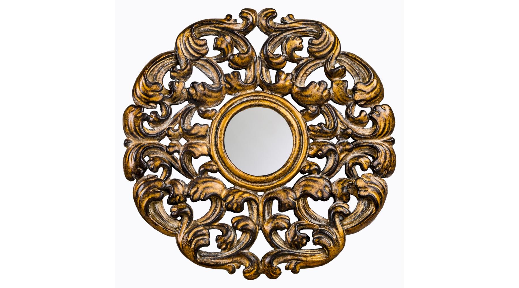 Настенное зеркало «Арабеск»Настенные зеркала<br>Это зеркало напоминает старинные арабески, покрытые золотом и потемневшие от времени. Такая вещица будет уместна в любом историческом жанровом интерьере: арабском, готическом, романском, рококо и барокко. Подойдет она и для помещений в более современных стилях эклектика и ар-деко. Рама изготовлена из мебельного полиуретана, очень прочного материала, который не крошится и не трескается, не боится влаги, не тускнеет и не выгорает на солнце. Зеркальная поверхность 5 мм толщиной покрыта слоем серебряной амальгамы.&amp;lt;div&amp;gt;&amp;lt;br&amp;gt;&amp;lt;/div&amp;gt;&amp;lt;div&amp;gt;Вес: 0,8 кг.&amp;lt;/div&amp;gt;<br><br>Material: Полиуретан