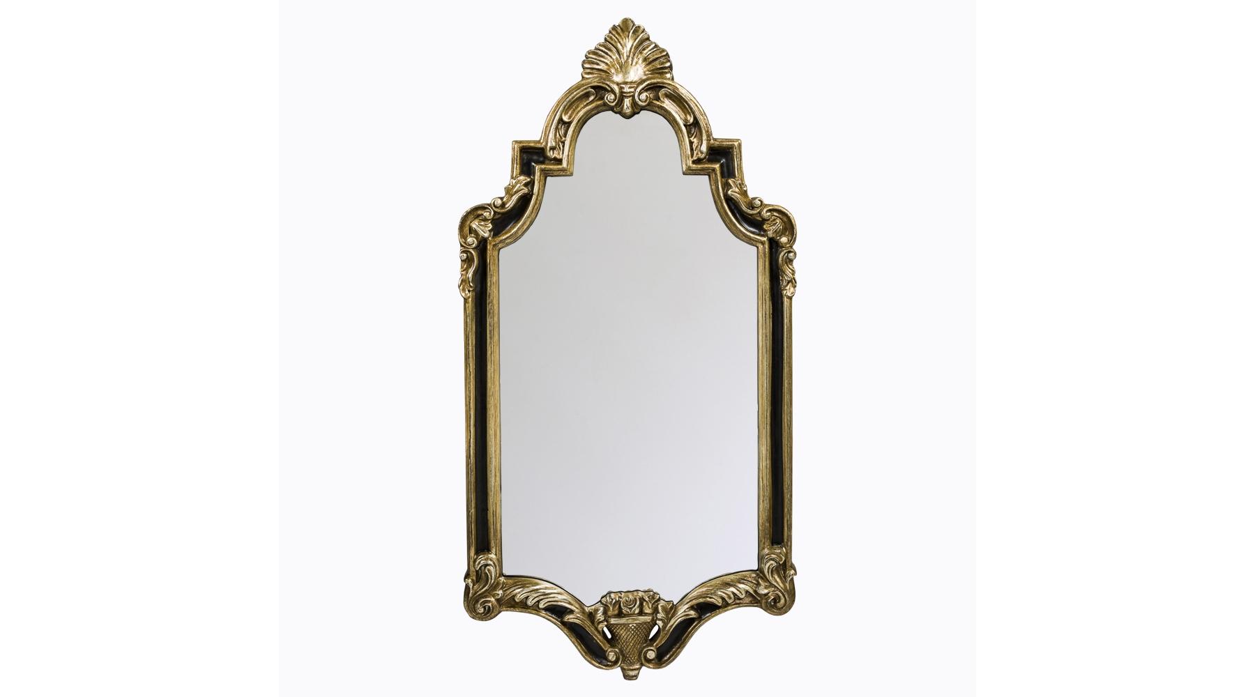 Настенное зеркало «Олимпия»Настенные зеркала<br>Зеркало в раме со строгими пропорциями и филигранной резьбой будет гармонично смотреться среди интерьера, оформленном в стиле модерн, ампир, классицизм или ар-деко. Обрамление изготовлено из мебельного полиуретана, долговечного современного материала, который легко имитирует фактуры ценных пород древесины, мрамора, металла и даже слоновой кости. ППУ не боится влаги, очень крепок, не крошится и не трескается. Зеркало толщиной 5 мм покрыто серебряной амальгамой и обработано по контуру фацетом. Размер изделия: 50?99,5?3,6 см.<br><br>Material: Пластик<br>Width см: 50<br>Depth см: 3,6<br>Height см: 99,5