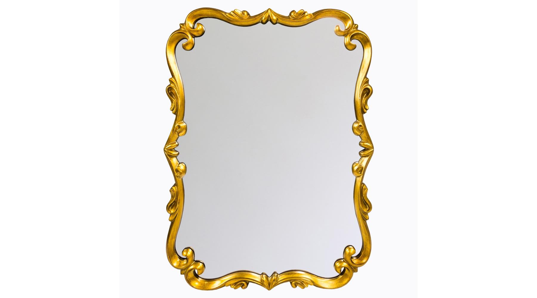 Настенное зеркало «Паскаль»Настенные зеркала<br>Это зеркало в золоченой раме прекрасно дополнит интерьер в любом «историческом» стиле: классицизм, модерн, ар-деко, рококо, ампир или ренессанс. Багет с витиеватым орнаментом очень легкий, не массивный, изготовлен из мебельного полиуретана. Этот материал не боится влаги, поэтому зеркало можно повесить в ванной или другом влажном помещении. ППУ очень прочен, срок его службы не ограничен. Зеркало толщиной 4 мм покрыто серебряной амальгамой, отражает объекты и предметы без искажений.<br><br>Material: Пластик<br>Width см: 77<br>Depth см: 3,5<br>Height см: 103