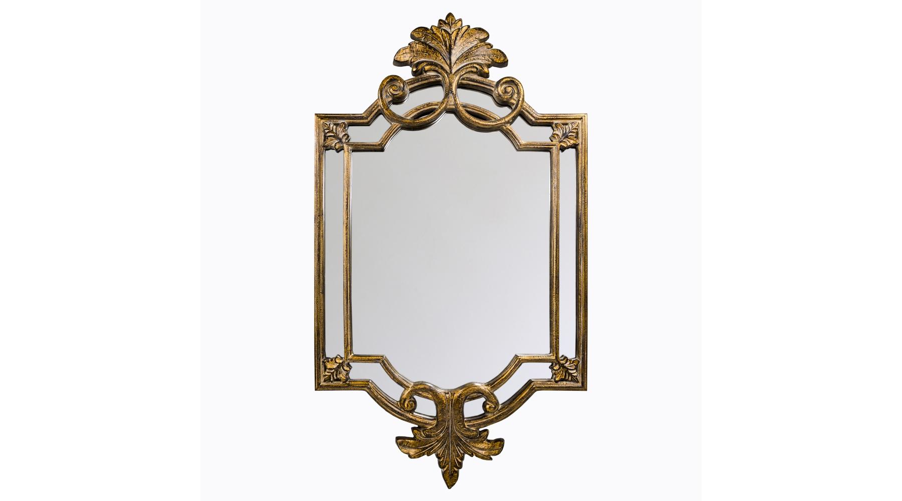 Настенное зеркало «Ноэль»Настенные зеркала<br>Это зеркало с двойной резной рамой напоминает витражи старинных дворцов и соборов. Обрамление изготовлено из практичного и очень прочного полиуретана, который не боится влаги, на его поверхности не образуются трещины и сколы. Сложное окрашивание в золотой оттенок с характерным потемнением – «печатью времени» – &amp;amp;nbsp;усиливает винтажный эффект. Зеркальная поверхность толщиной 5 мм, покрытая серебряной амальгамой, идеально точно передает отражения, не искажая их. Вес изделия составляет 11,5 кг.<br><br>Material: Полиуретан<br>Width см: 86,5<br>Depth см: 4,5<br>Height см: 149,5