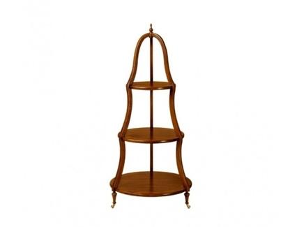 Этажерка круглая (satin furniture) коричневый 108 см.