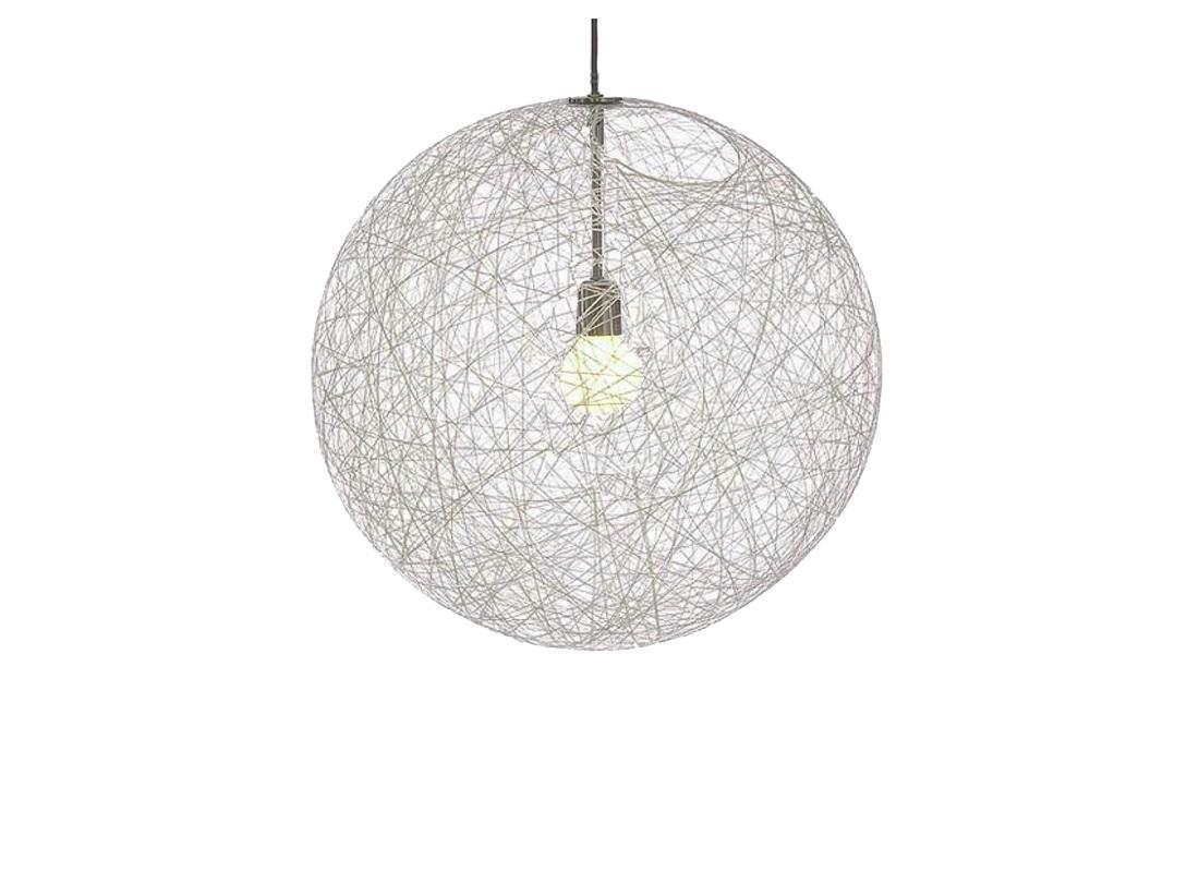 Дизайнерский подвесной светильник The RandomПодвесные светильники<br>&amp;quot;The Random&amp;quot; ? светильник, который является одним из самых узнаваемых творений Бертьяна Пота. Силуэт лампы, известный с 1999 года, имеет множество поклонников. Он очаровывает своей эфемерной легкостью, рожденной чистой случайностью. Хаотичное объединение волокон стеблей конопли в форме полой сферы выглядит изысканно и оригинально. Мягко рассеивая свет, оно создает завораживающую игру, от красоты которой невозможно отвести глаз.&amp;lt;div&amp;gt;&amp;lt;br&amp;gt;&amp;lt;/div&amp;gt;&amp;lt;div&amp;gt;Один плафон из пеньки, металлическое основание&amp;lt;/div&amp;gt;&amp;lt;div&amp;gt;Высота подвеса max 200 см&amp;lt;/div&amp;gt;&amp;lt;div&amp;gt;Патрон E27, мощность max 1 х 100W&amp;lt;/div&amp;gt;&amp;lt;div&amp;gt;Возможно использование светодиодной лампы&amp;lt;/div&amp;gt;&amp;lt;div&amp;gt;Вес 2.4 кг&amp;lt;/div&amp;gt;<br><br>Material: Текстиль<br>Diameter см: 60