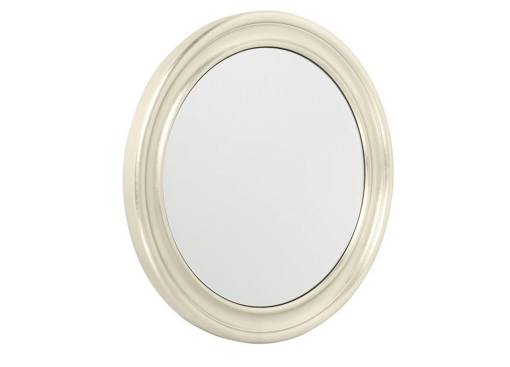 Зеркало PalermoНастенные зеркала<br>Простота форм часто является лучшей возможностью подчеркнуть истинное благородство оформления. Круглое зеркало &amp;quot;Palermo&amp;quot; декорировано лишь деревянной рамой. Выглядеть изысканно и роскошно, под стать классическому американскому стилю, ей позволяет утонченная отделка сусальным серебром.<br><br>Material: Стекло<br>Глубина см: 6