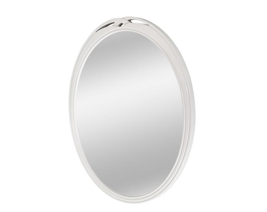 Зеркало PAOLAНастенные зеркала<br>Простота и элегантность идут рука об руку в оформлении зеркала &amp;quot;Paola&amp;quot;. Лаконичность кроется в строгом силуэте овальной рамы, а изысканность ? в великолепной отделке матовым лаком молочно-бежевого цвета.<br><br>Material: МДФ<br>Width см: 54.8<br>Depth см: 3<br>Height см: 64.5