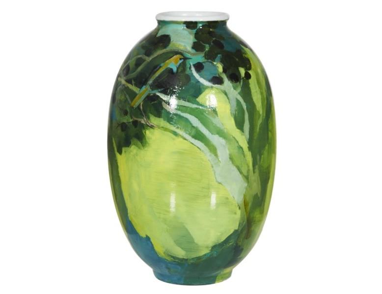Ваза настольная May BlurВазы<br>Яркая и свежая, эта ваза станет ненавязчивым акцентом в классическом пространстве нежных пастельных тонов или, напротив, вольется в компанию подобных броских аксессуаров в современном дизайнерском интерьере.<br><br>Material: Керамика<br>Height см: 48,5<br>Diameter см: 30,5